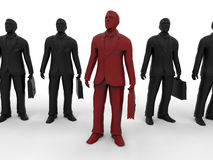Business man standing out concept Stock Images