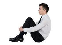 Business man standing serious Stock Photos