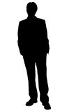 Business man standing silhouette Royalty Free Stock Photos