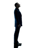 Business man standing silhouette isolated stock image