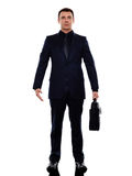 Business man standing silhouette Royalty Free Stock Photo