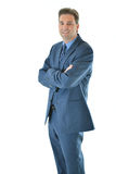 Business man standing with a smile Stock Photos