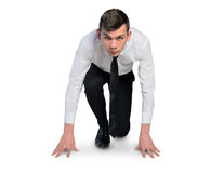 Business man start run position Royalty Free Stock Image