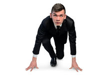 Business man start run position Royalty Free Stock Image