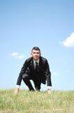 Business man start running Stock Images
