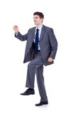 Business man stepping up Royalty Free Stock Images