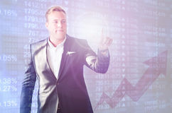 Business man stock market Royalty Free Stock Photography