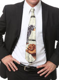 Business Man and Stock Market Tie. A Business Man with Stock Market themed tie Stock Photos