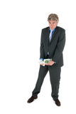 Business man with stolen money Stock Image
