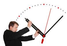 Business man stop time Royalty Free Stock Photo