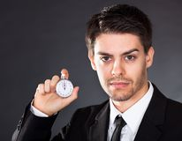 Business man with stop watch Stock Images