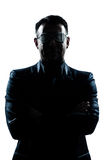 Business man with strange glasses Royalty Free Stock Images