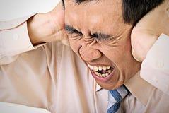 Business man with stress Stock Photos