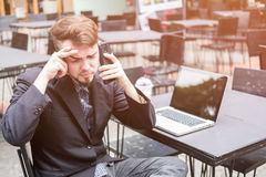 Business man stressed and under pressure Stock Photo