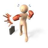 Business man strikes punch. Royalty Free Stock Photo