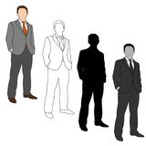 Business Man Style Set 05 Royalty Free Stock Images