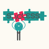 Business man with success puzzle Royalty Free Stock Photo