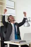 Business man successfull Stock Photography