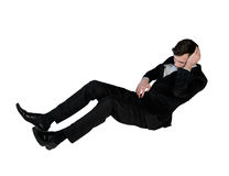 Business man suffer on floor. Isolated business man suffer on floor Stock Images