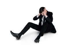 Business man suffer on floor Stock Photography
