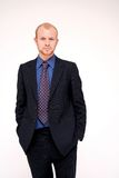 Business Man - suit. Image of a blonde business man in formal dressed corporate suit royalty free stock images
