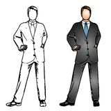 Business Man Suit Royalty Free Stock Photography