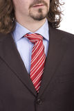 Business man Suit with colored tie Royalty Free Stock Images