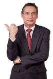 Business Man in Suit Gesturing Get Out Royalty Free Stock Photos