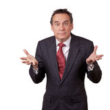 Business Man in Suit with Open Hands Stock Image