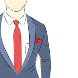 Business man in suit sketch Stock Images