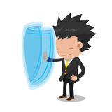 Business Man Suit Stop Protect Stock Images