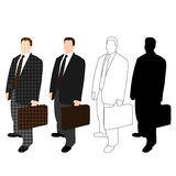 Business Man in Suit Styles Set 02 Stock Photo