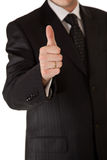Business man in suit thumbs up Stock Photos