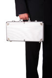 Business man with suitcase Stock Images