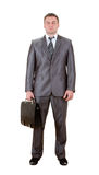 Business man with suitcase Royalty Free Stock Photography