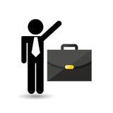 Business man suitcase icon design Royalty Free Stock Photo