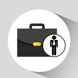 Business man suitcase icon design Stock Photography
