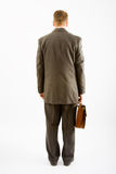 Business man suite and bag Royalty Free Stock Images