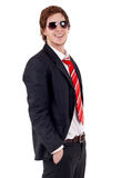Business man with sunglasses royalty free stock photo