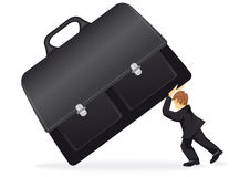 Business man with a suitcase Stock Photo
