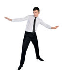 Business man surf position Royalty Free Stock Photo