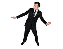 Business man surf position Royalty Free Stock Images