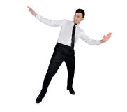 Business man surfing position Stock Images