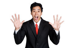 Business man surprise Royalty Free Stock Photography