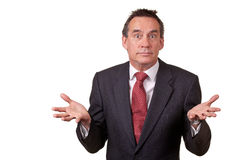 Business Man with Surprised Expression Royalty Free Stock Photo