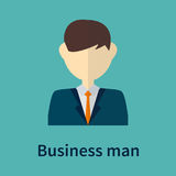 Business man symbol. Style portrait with color background Royalty Free Stock Image