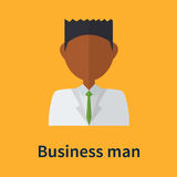Business man symbol. Style portrait with color background Stock Images