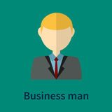 Business man symbol. Style portrait with color background Royalty Free Stock Photos