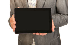 Business man with tablet Royalty Free Stock Image