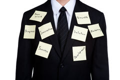 Business man tactics for success isolated Stock Image